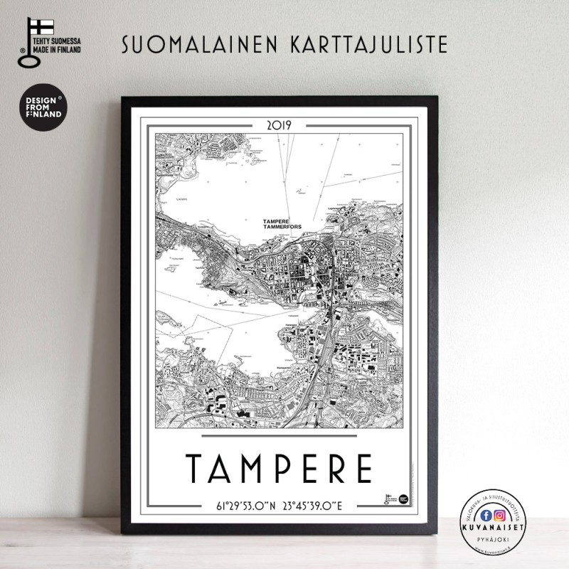 Tampere 2019, 50x70cm karttajuliste