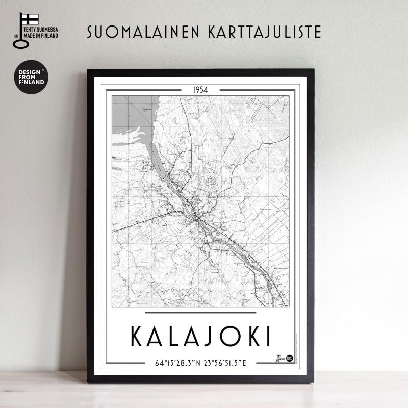 Kalajoki 1954, 50x70cm karttajuliste
