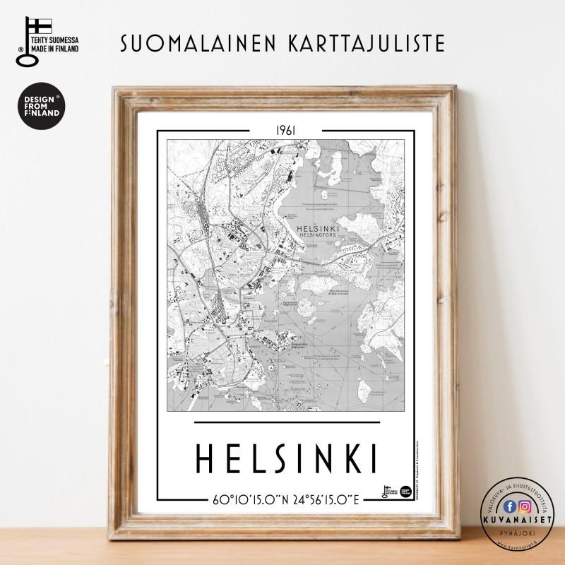 Helsinki 1961, A3 karttajuliste