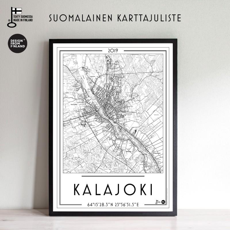 Kalajoki 2019, 50x70cm karttajuliste