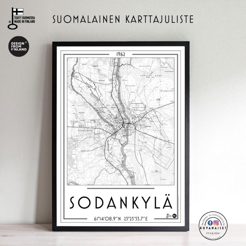 Sodankylä 1962, 50x70cm karttajuliste