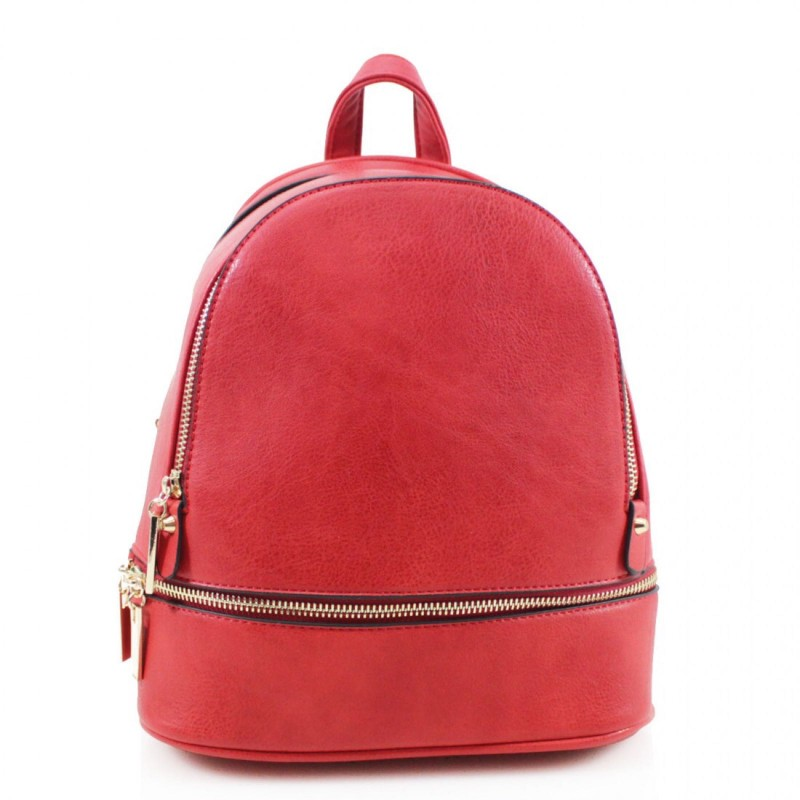 Multi Section Backpack - Red