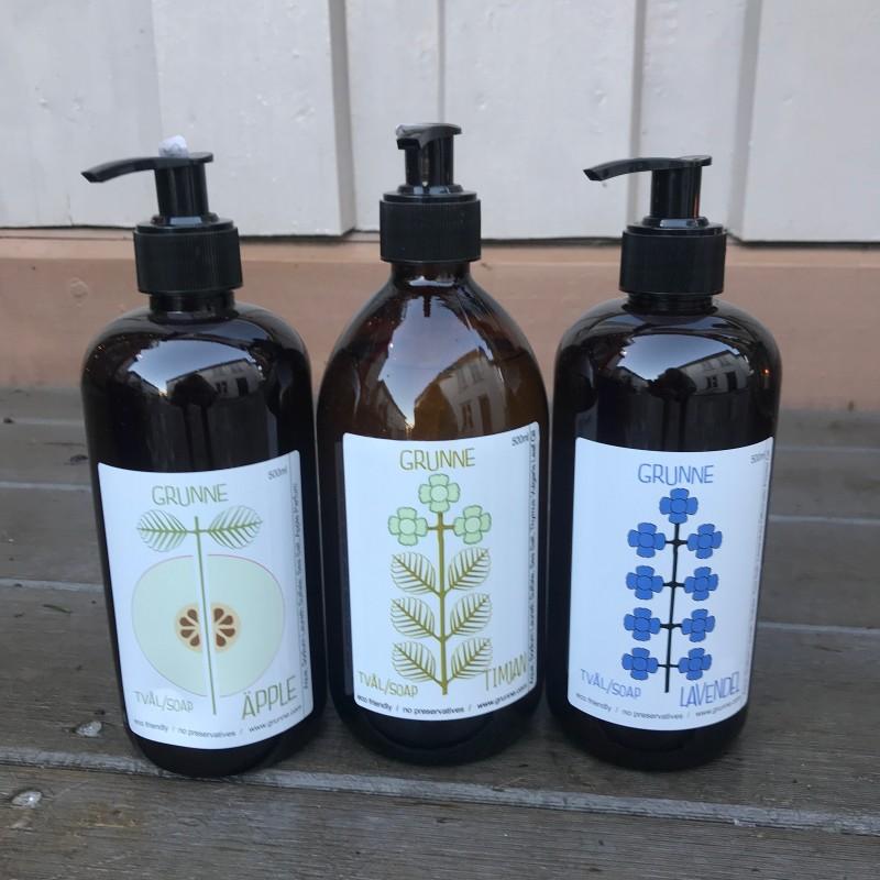 Flytende såpe til kropp : økologisk