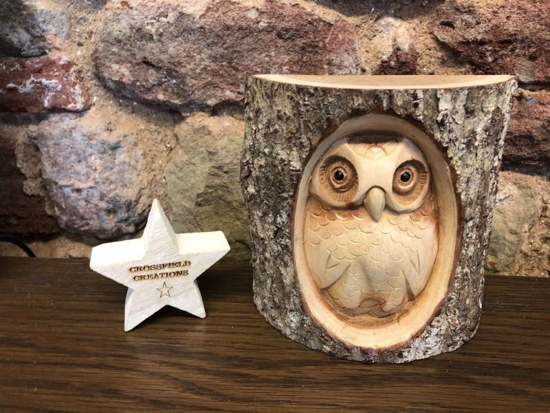 Carved Log Owl