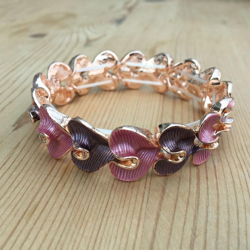 Lily Heart Bracelet - Pink