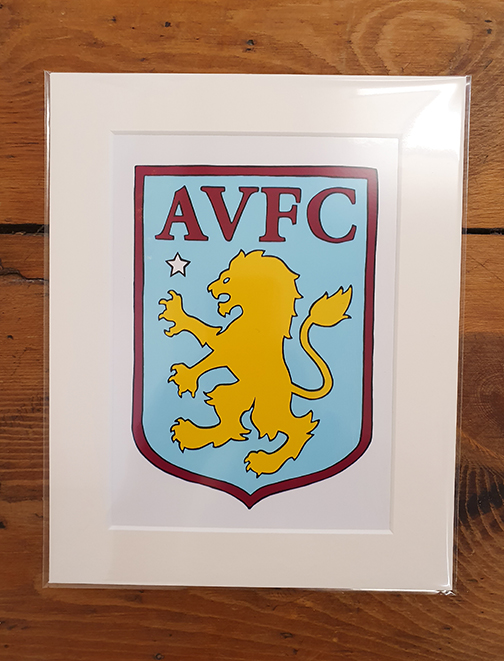 Aston Villa (AVFC) Emblem Mounted Artwork Print