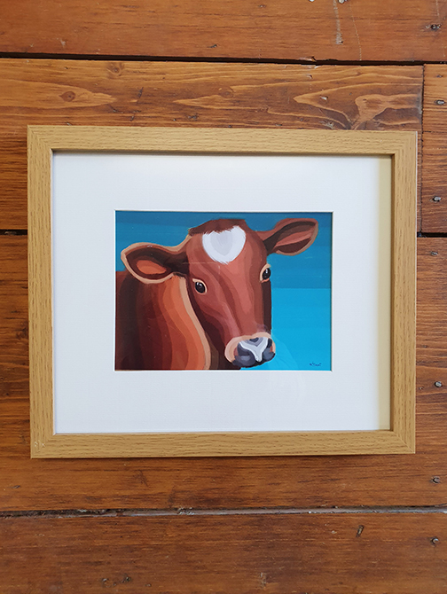 Cow 12 x 10 Framed Artwork