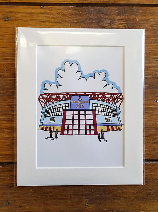 Bradford City AFC (BCAFC) Stadium Mounted Artwork Print