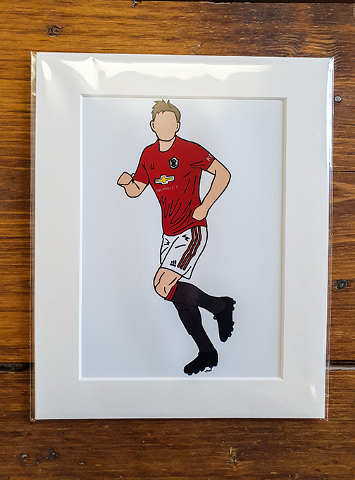 Manchester United Player (MUFC) Mounted Artwork Print