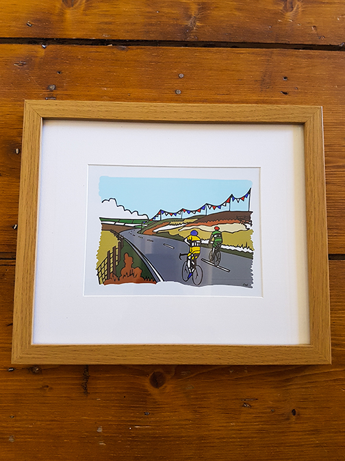 Cycling Cragg Vale 12 x 10 Framed Artwork