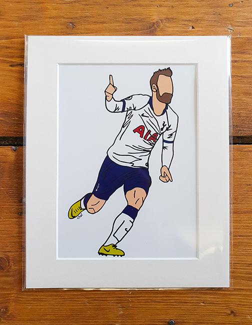 Tottenham Hotspur (Spurs) Kit Mounted Artwork Print