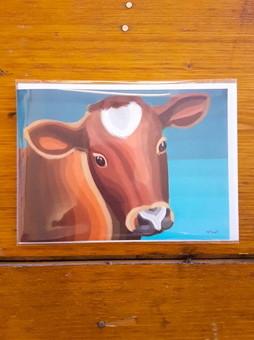 Cow Artwork Card