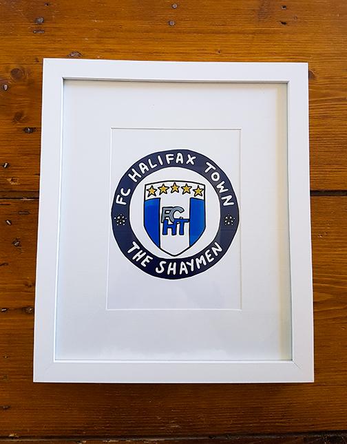 FC Halifax Town (FCHT) Emblem 12 x 10 Framed Artwork