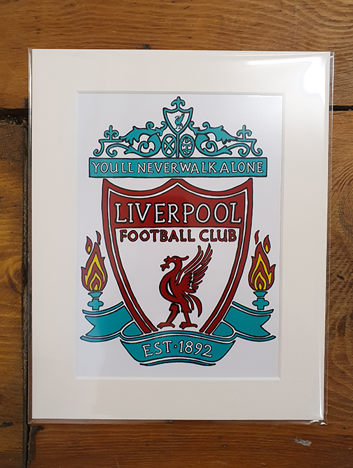 Liverpool (LFC) Emblem Mounted Artwork Print