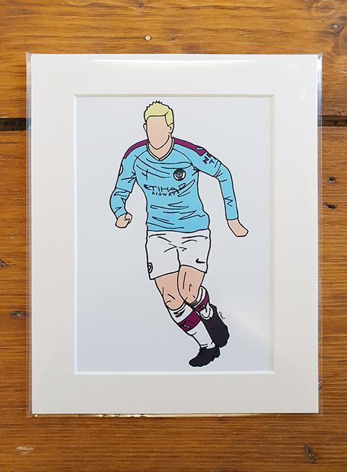 Man City (MCFC) Kit Mounted Artwork Print