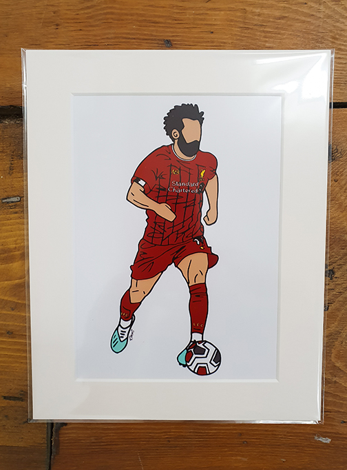 Liverpool (LFC) Kit Mounted Artwork Print