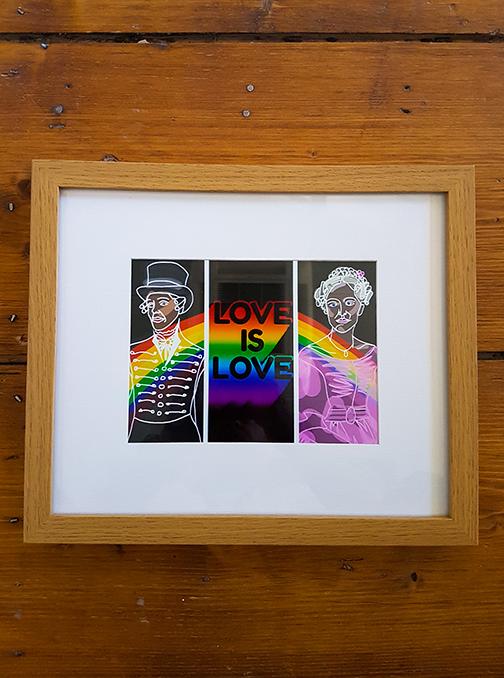 Gentleman Jack - Love Is Love 12 x 10 Framed Artwork