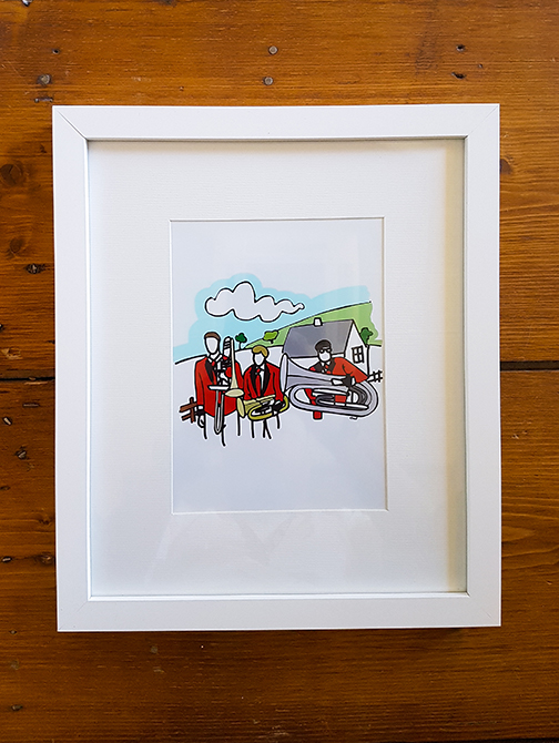 Brass Band 12 x 10 Framed Artwork