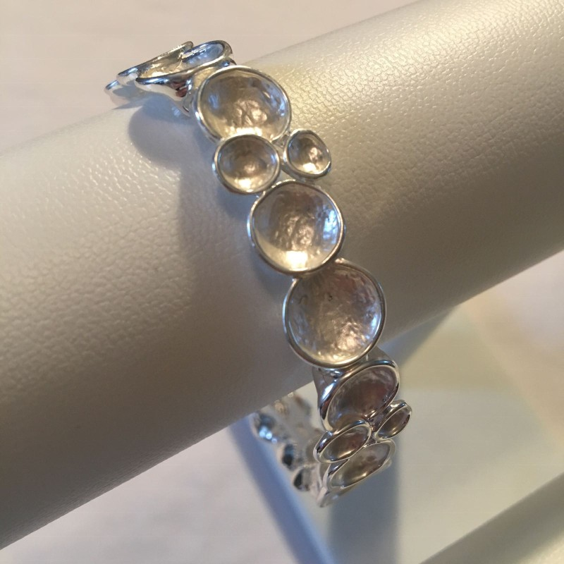 Bubble Bracelet Thin - Silver