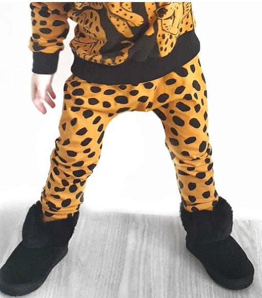 Lalaloop Cheetah Leggings - Mustard