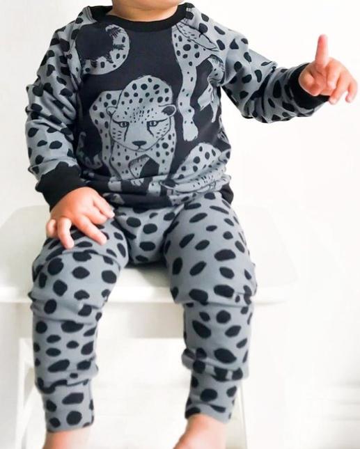 Lalaloop Cheetah Leggings - Grey