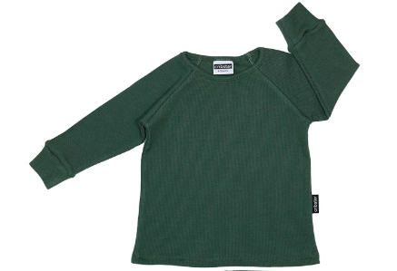 Cribstar Ribbed Lounge Top - Bottle Green