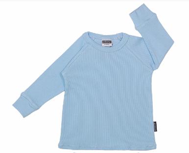 Cribstar Ribbed Lounge Top - Baby Blue