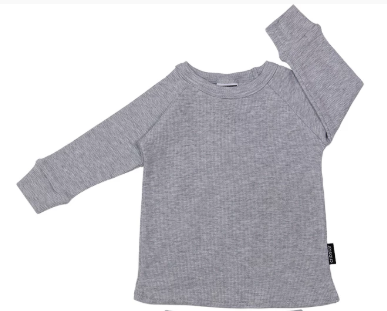 Cribstar Ribbed Lounge Top - Grey