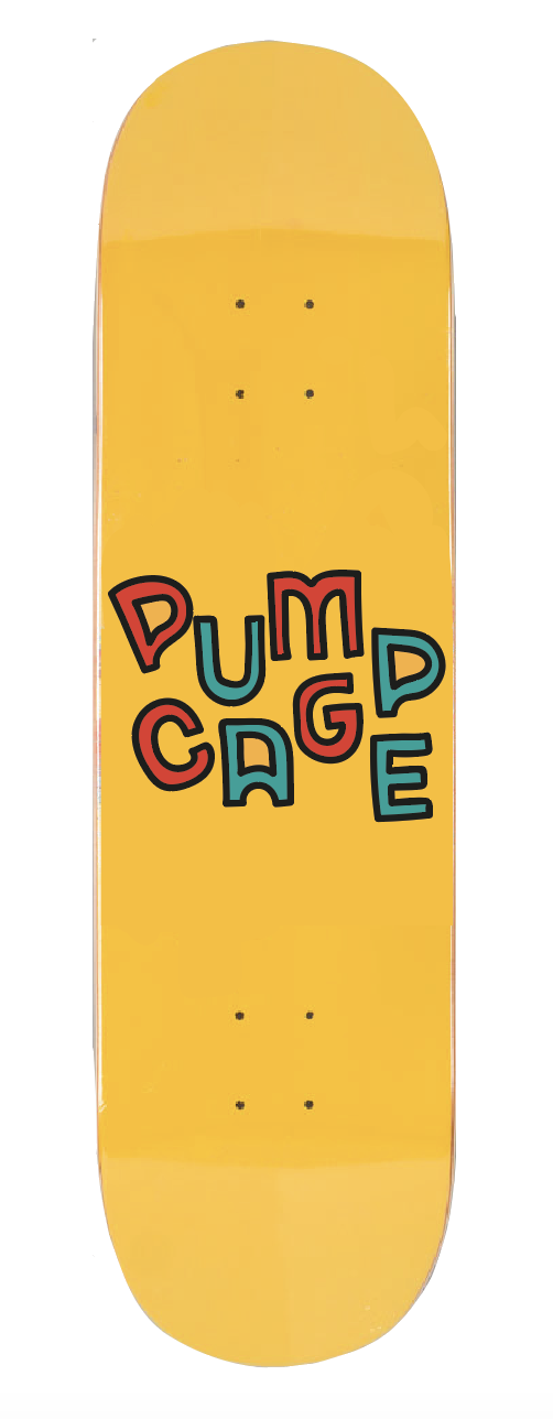 Pumpcage Logo Deep Yellow Deck