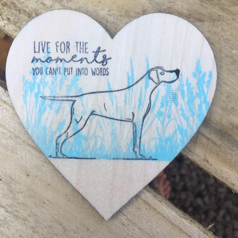 Wooden heart dog coaster/ hanging 10cm