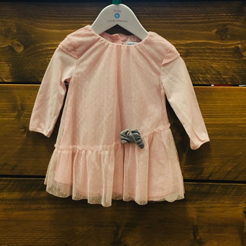 VERTBAUDET PINK DRESS 6M