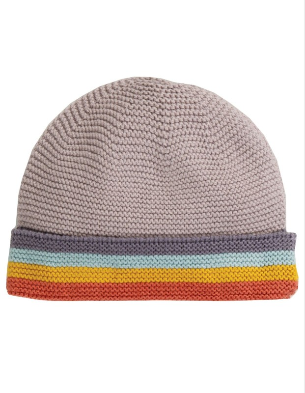 Frugi Harlow Knitted Hat, Soft Rainbow