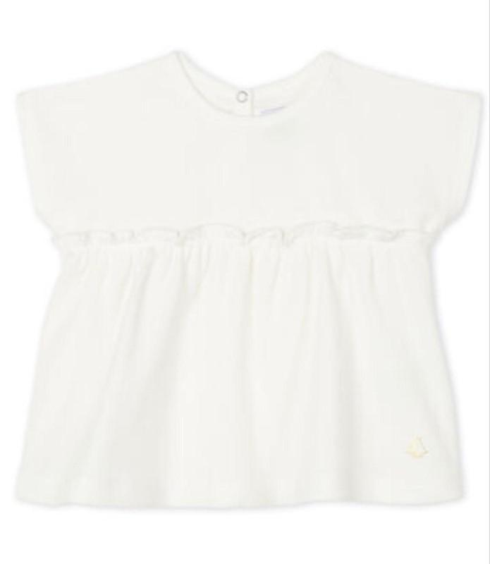 Petit Bateau Baby Girl's White Tunic