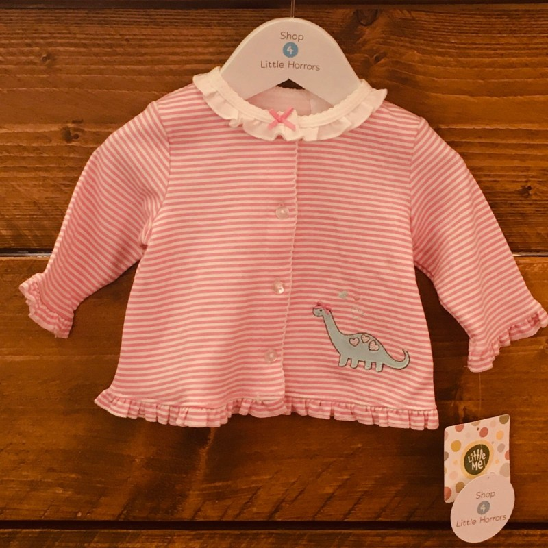LITTLE ME PINK/WHITE BUTTONED TOP BNWT NEWBORN UP TO 8LBS