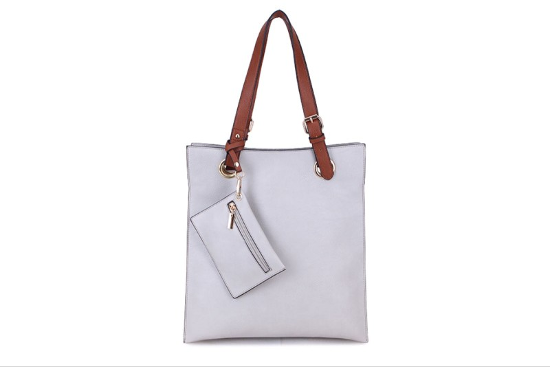 5 Pocket Filing Bag with Purse (Portrait) - Light Grey