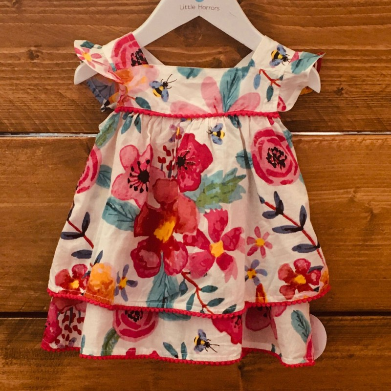 BABALUNO COLOURFUL SUMMER LAYERED DRESS 6-9M