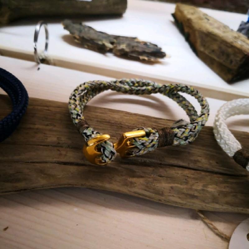 Fischereidesign - Armband einfach getakelt mit großem Anker