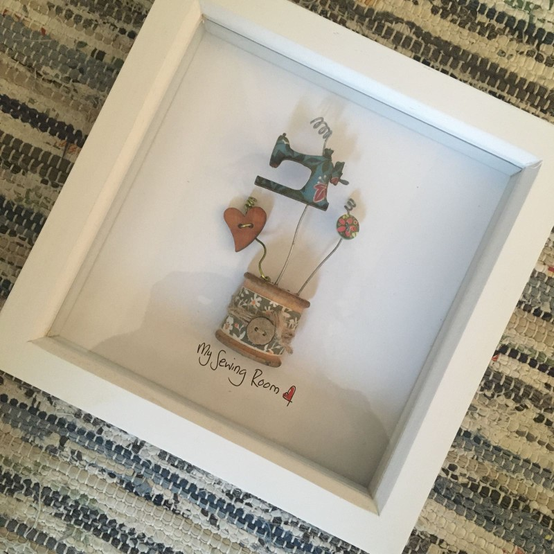 Sewing bobbin 'my sewing room' frame