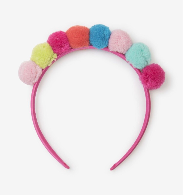 Hatley Pom Pom Crown Headband