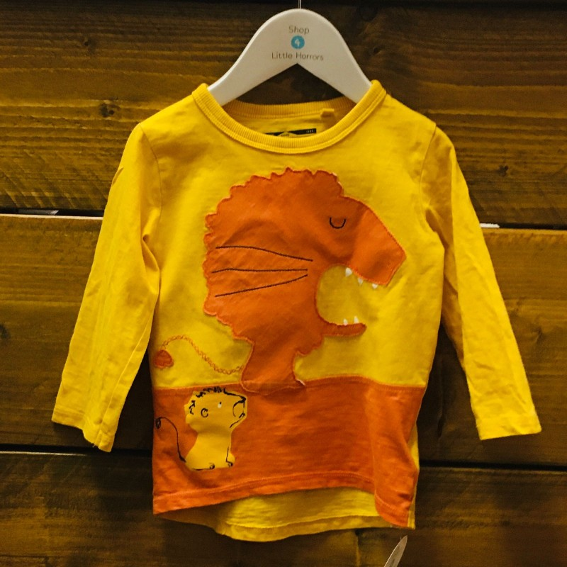 NEXT MUSTARD LION T-SHIRT 12-18M