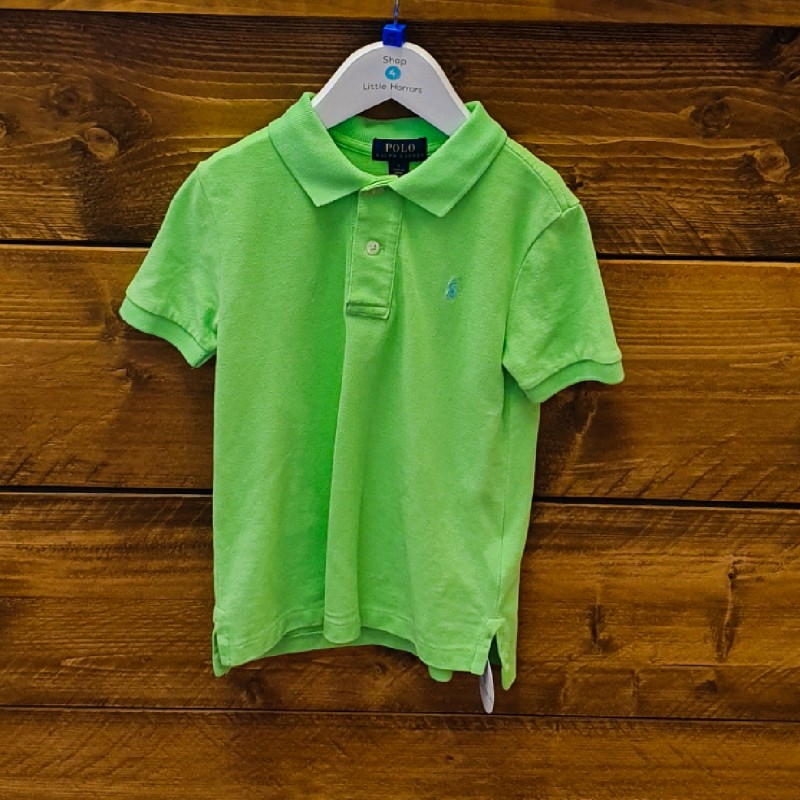 RALPH LAUREN POLO TOP LIME GREEN 5YR