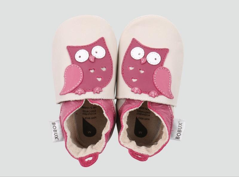 Bobux Pram Shoe Milk Owl