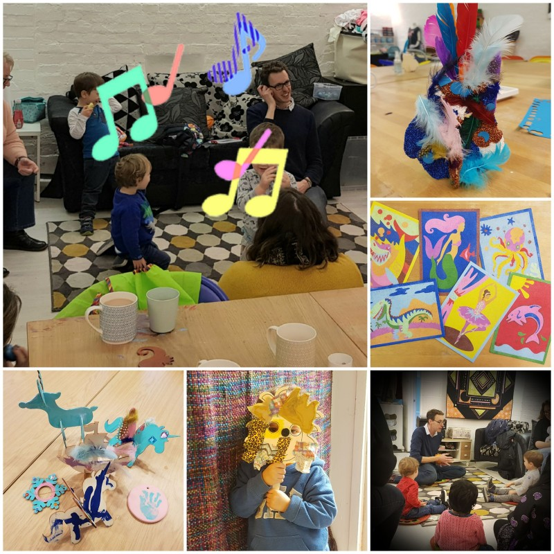 Musika and Crafts for 2-4 yr Olds