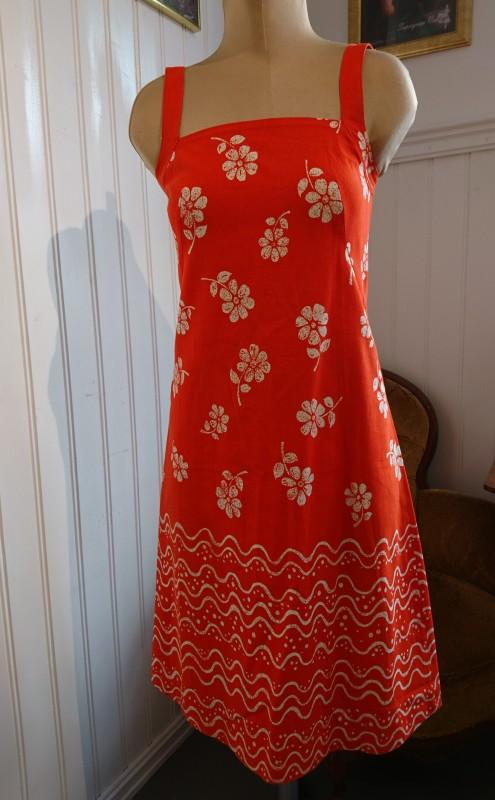 2074 Orange sommerkjole