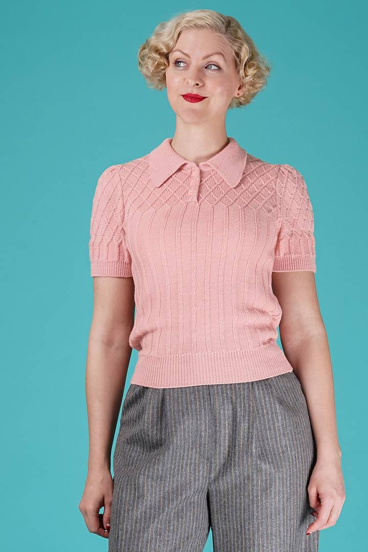 Tip top Knit top, blush