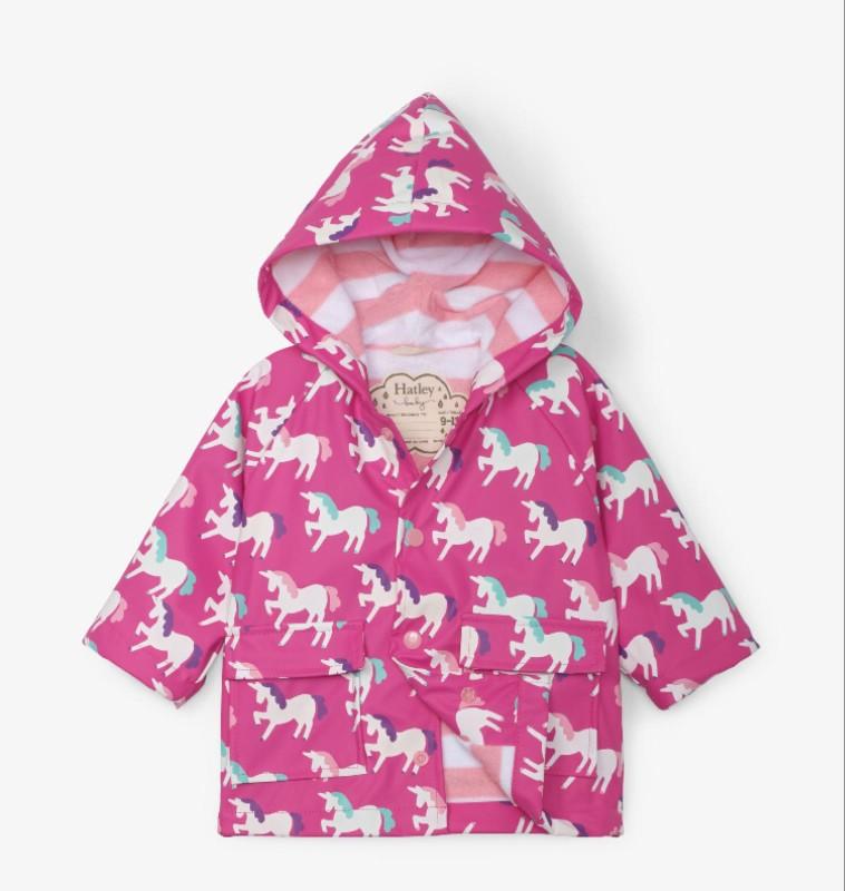 Hatley Mystical Unicorns Colour Changing Baby Raincoat