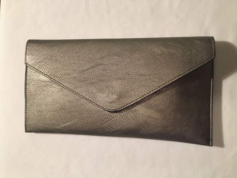 Envelope Clutch Bag - Pewter
