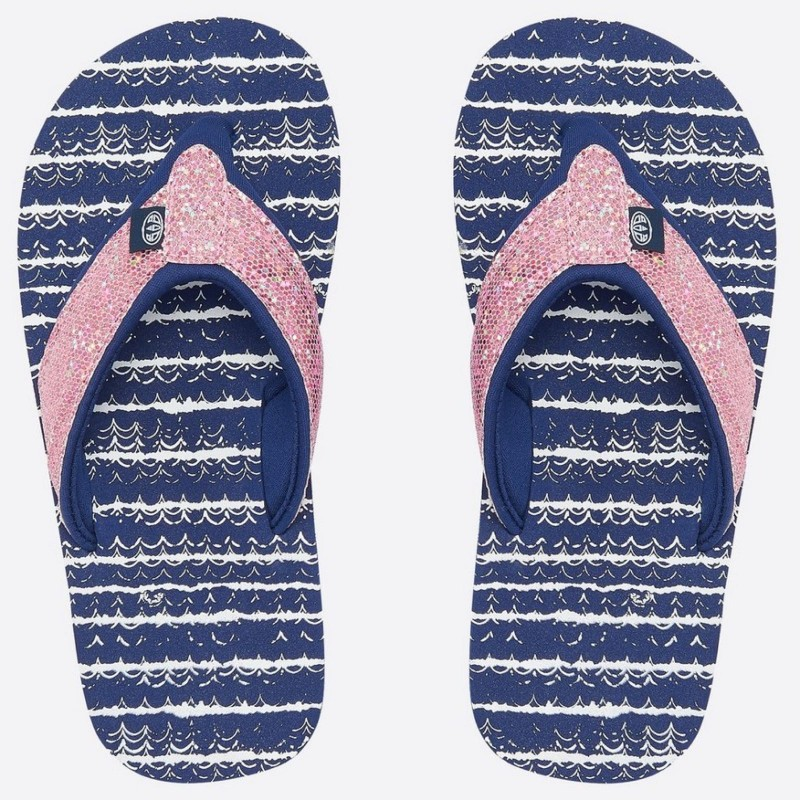 Animal Swish Glitz Flip Flops