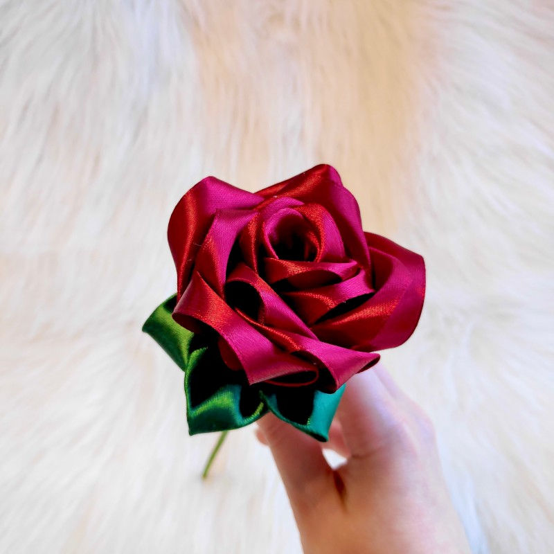 Dark Red Satin Rose