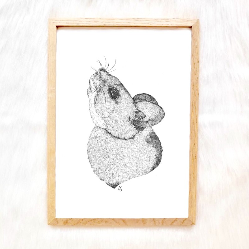 Pointillism Mouse Art Print